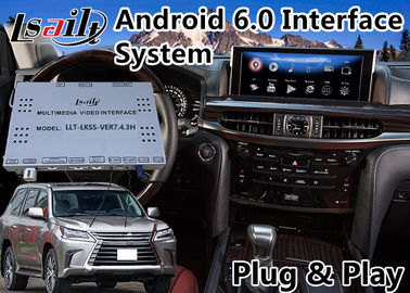 China Android 6.0 Auto Video Interface for Lexus LX 570 with Mouse Control 2016-2018 , GPS Navigation Waze Mirrorlink distributor
