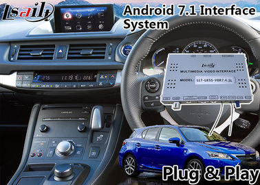 China Android 7.1 Navigation Video Interface for 2016-2018 Lexus Knob Control CT 200h support Headrest distributor