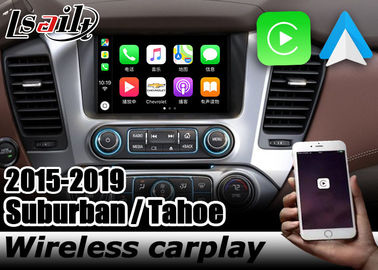 China Chevrolet Tahoe Suburban wireless carplay interface box with androif auto youtube play Lsailt Navihome GMC Yukon factory