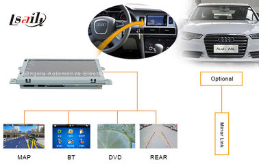 China Portable AUDI Automotive Navigation System with DVD , Mirror Link , TV , USB MAP factory