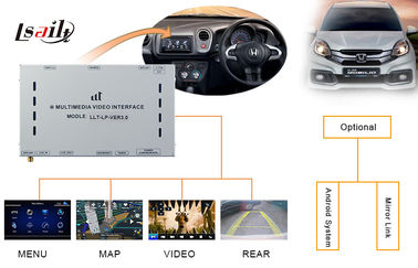 China Honda Decoder / Honda Video Interface for City Left - Hand with Touch Navigation , Rear View factory