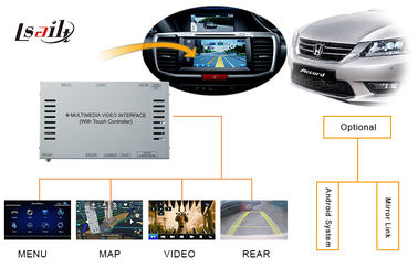 China HR-V City Odyssey Fit  GPS Video Decoder for Honda Right Hand / Touch Navi / TV factory