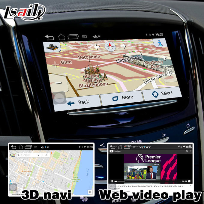 Mirror link cast screen Android navigation box video interface for Cadillac ATS video