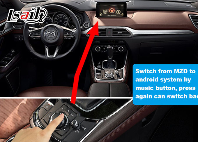 Android Car Interface For Mazda CX-9 2014-2020 Model GPS Navigation Original Steering Wheel / Knob Control