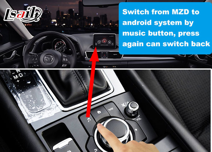 Lsailt Android Video Interface for Mazda CX-5 2017-2020 Car MZD System with GPS Navigation Mirror link Youtube
