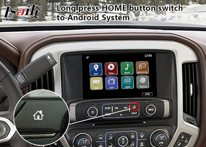Upgarde Car Multimedia Android Video Interface GPS Navigation for Chevrolet Silverado Mylink System