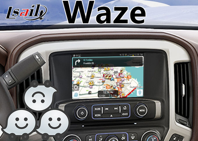 Chevrolet Silverado Android Navigation Interface for 2015-2018 Mylink System Mirrorlink Waze YouTube