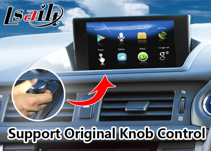 Android 7.1 Navigation Video Interface for 2016-2020 Lexus Knob Control CT 200h support Headrest