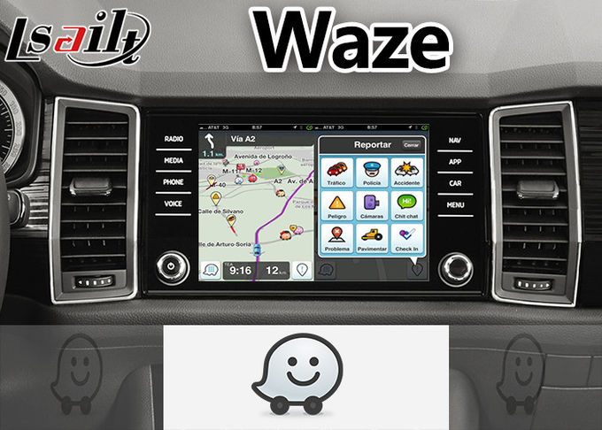 Volkswagen Skoda Android Video Interface 8 '' Inch Screen With Waze Google