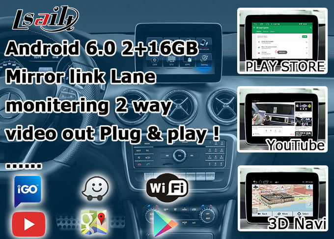 Android GPS navigation box interface for mercedes benz CLA