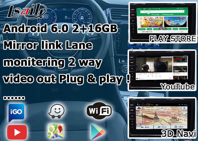 Multi Languages Android Navigation Box MCU Upgrade For Volkswagen Golf Mark7