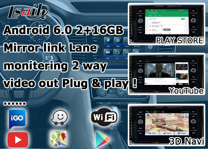 Video Interface GPS Navigation Device Google Map For Volkswagen Teramont Atlas