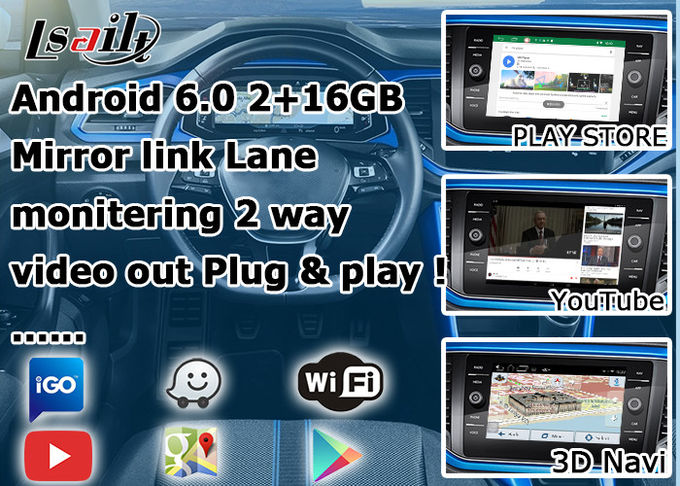 Volkswagen T - ROC Android Auto Interface , Car Video Interface With 360 Panorama Sight View