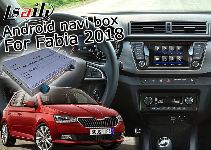 Skoda Fabia Android Navigation Box With 9.2 Inches Rear View WiFi Video Cast Screen