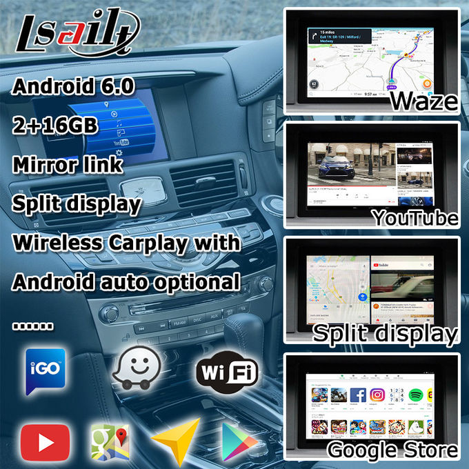 GPS Navigation Car Multimedia Interface For Infiniti Q70 / M25 M37 Fuga Support Youtube Video Play
