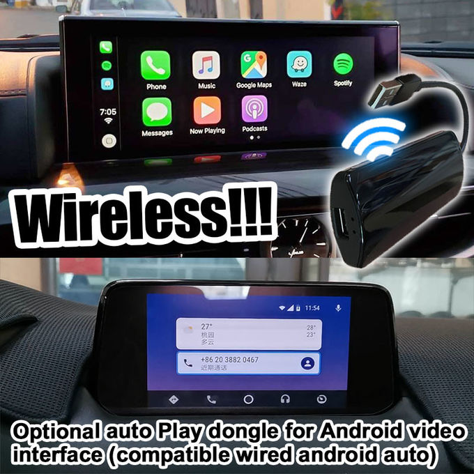Mazda MX-5 MX5 FIAT 124 Android Navigation Box with Mazda origin knob control video interface