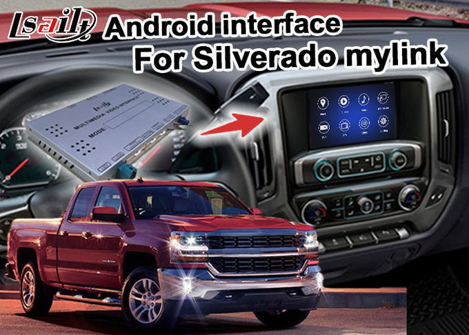 Android 7.1 navigation box for Chevrolet Silverado video interface with rearview WiFi video mirror link