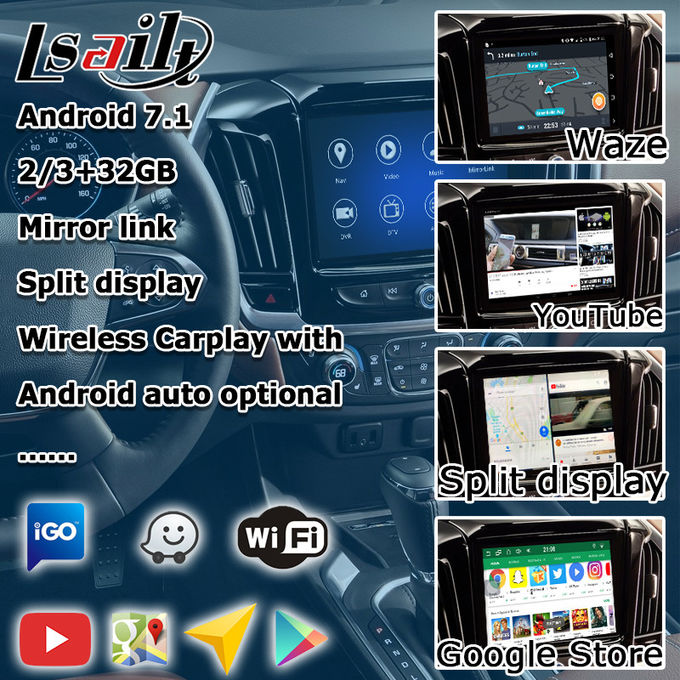 GPS Car Navigation Box video interface for Chevrolet Traverse Mirror Link Navigation