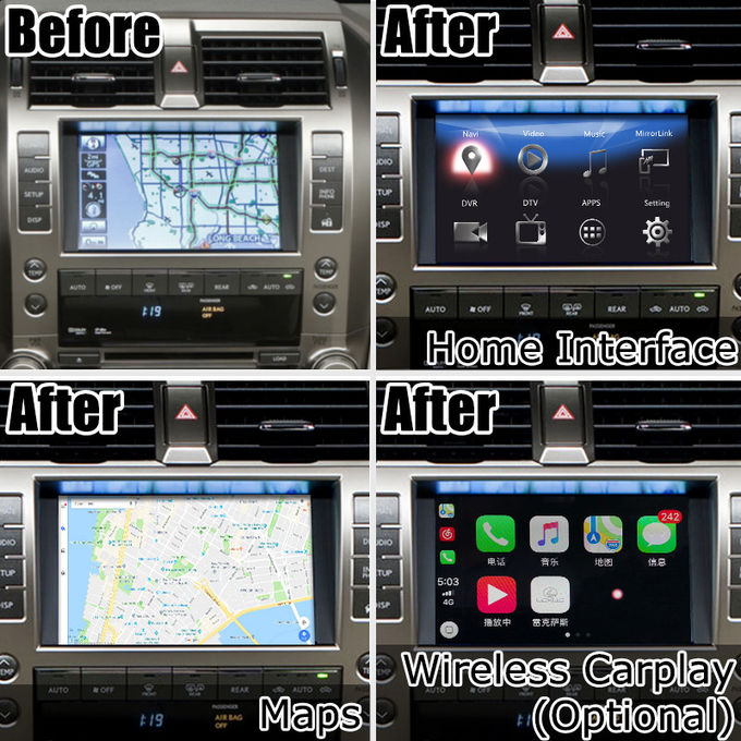 Android Navigation Interface Box For Lexus GX460 2013-2019 pin to pin install carplay optional