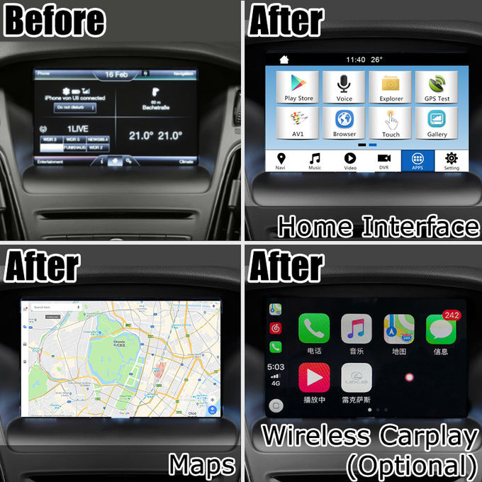Ford Focus SYNC 3 Car Navigation Box Simple Gps Navigation with wireless carplay android auto