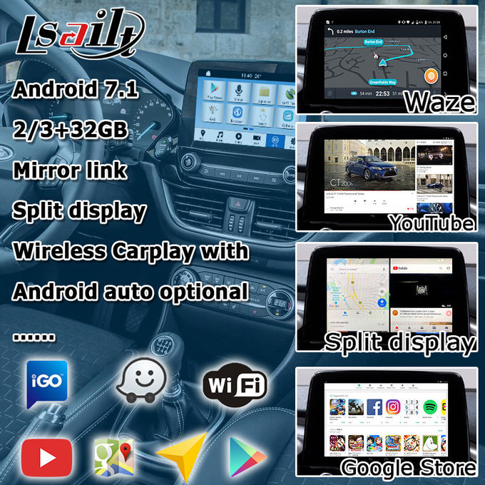 Android navigation box For Ford Fiesta ecosport sync3 with wireless carplay android auto