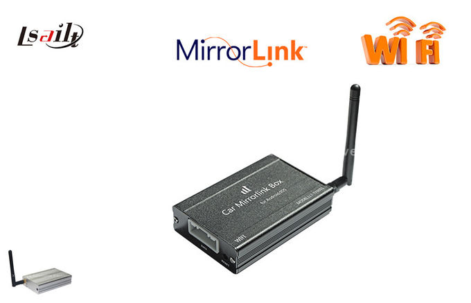 Benz BMW TOYATA Wifi Mirror Link Box For Android / Iphone Connectivity Through RGB CVBS